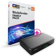 Bitdefender Family pack 2020 pro 15 zařízení na 1 rok (BOX) + dárek VIVAX SET-TOP BOX DVB-T2