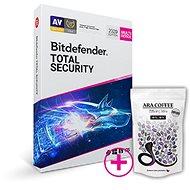 Bitdefender Total Security pro 10 zařízení na 1 rok (BOX) + dárek káva Black Cobra (800g)