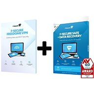 F-Secure SAFE DR + FREEDOME for 3 devices for 1 year + Data Recovery for 1 device for 1 year (electr