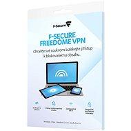 F-Secure FREEDOME pro 1 zařízení na 2 roky (elektronická licence) - Internet Security