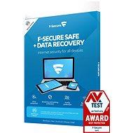 F-Secure SAFE DR pro 3 zařízení na 1 rok + Data Recovery pro 1 zařízení na 1 rok (elektronická licen - Antivirus
