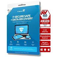 F-Secure SAFE DR (Rodina) pro 5 zařízení na 24 měsíců + pojistka na službu obnovení dat - Antivirus
