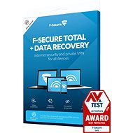 F-Secure TOTAL DR pro 3 zařízení na 1 rok + Data Recovery pro 1 zařízení na 1 rok (elektronická lice - Antivirus