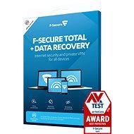 F-Secure TOTAL DR pro 5 zařízení na 2 roky + Data Recovery pro 1 zařízení na 2 roky (elektronická li - Antivirus