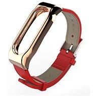 SXT Mi Band 2 koženkový náramek červený - řemínek