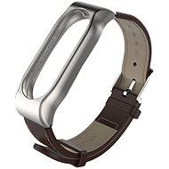 SXT Mi Band 2 koženkový náramek hnědý - řemínek