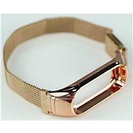 SXT Mi Band 3 kovový náramek (M-lock) růžový - řemínek