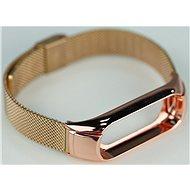 SXT Mi Band 3 kovový náramek (Typ 3) růžový - řemínek
