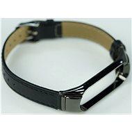 SXT Mi Band 3 koženkový náramek černý - řemínek