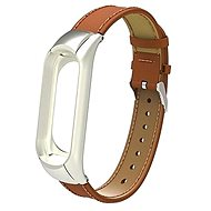 SXT Mi Band 3 koženkový náramek hnědý - řemínek