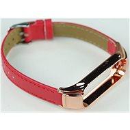 SXT Mi Band 3 koženkový náramek červený - řemínek