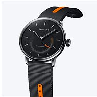 Sequent SuperCharger 2.1 Premium onyxově černé s černým/oranžovým řemínkem - Chytré hodinky