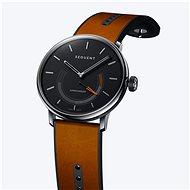 Sequent SuperCharger 2.1 Premium onyxově černé s hnědým koženým řemínkem - Chytré hodinky
