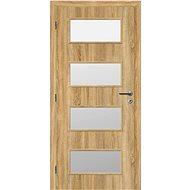 SOLODOOR Interiérové dveře SMART Plné, šířka 800 mm, levé, ANDORRA WHITE, oblá boční hrana - Interiérové dveře
