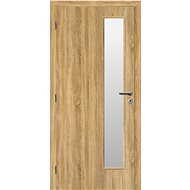SOLODOOR Interiérové dveře SMART 17, šířka 800 mm, pravé, ANDORRA WHITE, oblá boční hrana, SATINATO - Interiérové dveře