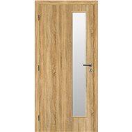 SOLODOOR Interiérové dveře SMART 22, šířka 800 mm, levé, DUB SONOMA, oblá boční hrana, SATINATO - Interiérové dveře