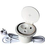 IN Zapuštěná lišta,zásuvka, Qi nabíjení,USB - Zásuvková lišta