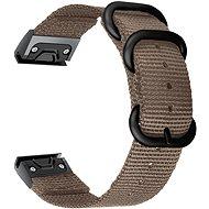 Řemínek Tactical nylonový řemínek pro Garmin Fenix 5X/6X QuickFit 26mm Khaki