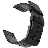 Tactical Kožený řemínek pro Huawei Watch GT / GT2 46mm / Honor Watch Magic 2 Black - Řemínek