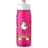 Tefal SQUEEZE měkká láhev 0.6 l růžová-jednorožec - Láhev na pití