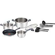 Tefal Daily Cook Stainless-steel Cookware Set, 11pcs, G713SB74 - Cookware Set