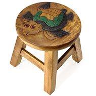 Dřevěná dětská stolička - PLOVOUCÍ ŽELVA