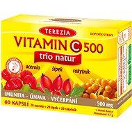 TEREZIA Vitamin C 500mg TRIO NATUR 60 kapslí - Vitamín C