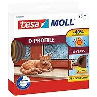 tesamoll Gumové těsnění, hnědé, D profil, 25m - Těsnění do oken