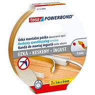 tesa Powerbond Slim - Narrow, Foam, 2pcs in Package, 5m: 9 mm