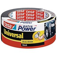 tesa Extra Power Universal, Textile, Black, 25m: 50mm - Duct Tape