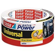 tesa Extra Power Universal, Textile, White, 25m: 50mm - Duct Tape