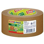 tesa PAPER ecoLogo, Strong, Packaging Tape, light brown, 50m:50mm - Duct Tape
