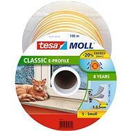 tesamoll® Rubber Seal, White, for Windows and Doors, E-profile, Drum of 100m - Window Seals