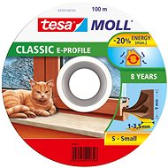 tesamoll® Rubber Seal, Brown, for Windows and Doors, E-profile, Drum of 100m - Window Seals
