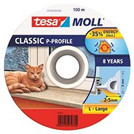 tesamoll® Rubber Seal, White, for Windows and Doors, P-profile, Drum of 100m - Window Seals