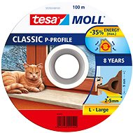 tesamoll® Rubber Seal, Brown, for Windows and Doors, P-profile, Drum of 100m - Window Seals