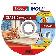tesamoll® Rubber Seal, White, for Windows and Doors, D-profile, Drum of 100m - Window Seals