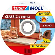 tesamoll® Rubber Seal, Brown, for Windows and Doors, D-profile, Drum of 100m - Window Seals