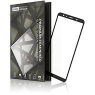 Tempered Glass Protector Rámečkové pro Samsung Galaxy A7, Černé - Ochranné sklo