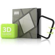 Tempered Glass Protector pro Apple Watch 4 / 5 / 6 / SE 44mm; 3D Glass Černé - Ochranné sklo