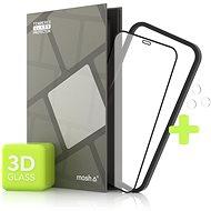 Ochranné sklo Tempered Glass Protector pro iPhone 12 Pro Max, 3D Case Friendly, Černé + sklo na kameru - Ochranné sklo