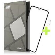 Tempered Glass Protector Rámečkové pro iPhone Xr / 11, Černé + sklo na kameru - Ochranné sklo