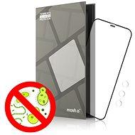 Ochranné sklo Tempered Glass Protector Antibacterial pro iPhone 12 Pro Max, Černé + sklo na kameru - Ochranné sklo