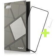 Tempered Glass Protector Rámečkové pro Realme 7 5G, Černé + sklo na kameru - Ochranné sklo