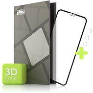 Tempered Glass Protector pro iPhone 11 Pro - 3D Case Friendly, Černé + sklo na kameru - Ochranné sklo