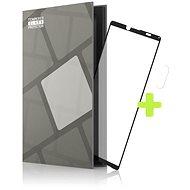 Tempered Glass Protector Rámečkové pro Sony Xperia 10 III. černé + sklo na kameru - Ochranné sklo