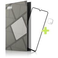 Tempered Glass Protector Rámečkové pro Samsung Galaxy A22 5G, černé + sklo na kameru - Ochranné sklo