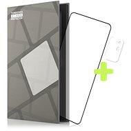 Tempered Glass Protector Rámečkové pro OPPO Reno 5Z 5G, černé + sklo na kameru - Ochranné sklo