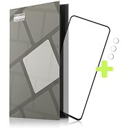 Tempered Glass Protector Rámečkové pro OPPO Reno5 5G, černé + sklo na kameru - Ochranné sklo