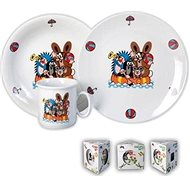 THUN Baby Dining Set 3pcs Little Mole in Gift Box - Children's Dining Set
